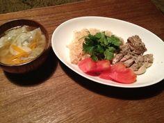 炊飯器で簡単に海南チキンライス、 残った餃子をスープに。 - 3件のもぐもぐ - アジアンカフェ飯 by アニさん