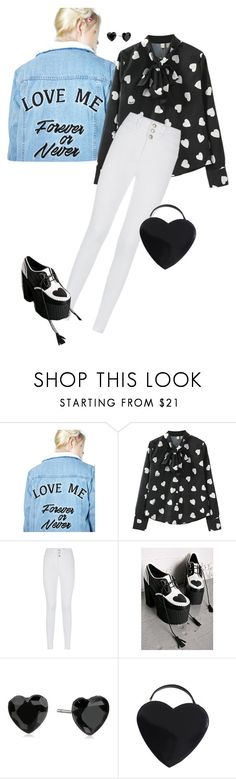 """""""love me forever or never"""" by dryingink ❤ liked on Polyvore featuring Glamorous, Sugar Thrillz, Betsey Johnson and Moschino"""