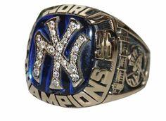 New York Yankees World Series ring 1996 Damn Yankees, Yankees Fan, New York Yankees Baseball, World Series Rings, Mlb World Series, Yankees World Series, Cool Rings For Men, Red Sox Nation, Baseball Training