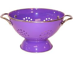 RESTON LLOYD Calypso Basics 5 Quart powder coated Colander Purple $18.95 LOWEST PRICE GUARANTEE... CULINART KITCHEN STORES: www.shopculinart.com