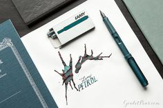 This Lamy fountain pen is incredible! Totally in love with the Lamy Safari Petrol fountain pen. It is the 2017 Special Edition. It won't last for long! Pin for later.