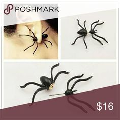 New fashion jewelry cool black Spider stud gift fo New fashion jewelry cool black Spider stud gift for women girl Jewelry Earrings