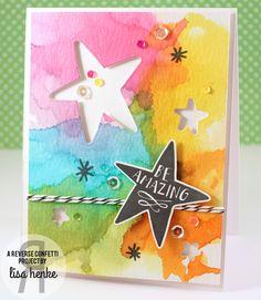 My Little Creative Escape: reverse confetti