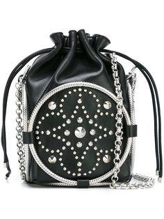 f58e2c9de9b9 Alexander McQueen - Studded Bucket Crossbody Bag Fekete Bőr