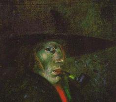 "Salvador #Dali Self-portrait (Figueres), 1921  - oil on canvas - 14¼ x 16½"" - Salvador Dalí Museum, Florida - quotations by salvador-dali  - dali photo album  - salvadordalimuseum.org"