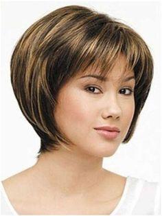 Images Bob Haircut With Bangs, Short Haircut Styles, Short Hair With Bangs, Short Hair Cuts, Bob Haircuts, Oval Face Bangs, Oval Face Hairstyles, Hairstyles With Bangs, Oval Faces