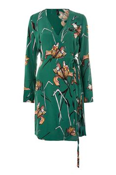 ***Wickelkleid mit Blumenmuster