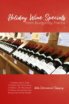 As promised... more holiday wine discounts, direct from Burgundy wine makers. The holiday promos keep arriving in our inbox, so we keep updating our list of wine specials, direct from wine makers in Burgundy. There's more than one way to feel connected to French wine country... cheers! Pro Tip: International shipping is surprisingly reasonable when you realize you get a 20% discount since there's no VAT tax on wine shipped outside the EU 😉 #burgundywine Burgundy France, Burgundy Wine, Wine Direct, Wine Deals, French Wine, Wine Country, Cottages, Wine Rack, Cottage
