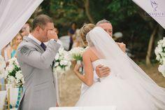 Wedding day tears