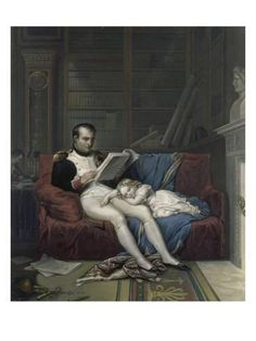 Portrait of Emperor Napoleon I and his son King of Rome Napoleon II, Duke of Reichstadt slept on his lap. Engraving of the century Malmaison, musee du chateau Empress Josephine, Napoleon Josephine, History Images, Art History, Rome, Foto Madrid, Fontainebleau, French History, Napoleon