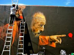 Fintan Magee and Matt Adnate spent the last few days working on this massive new collaboration on the streets of Sydney, Australia.