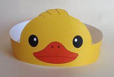 Duck Paper Crown  Printable by PutACrownOnIt on Etsy