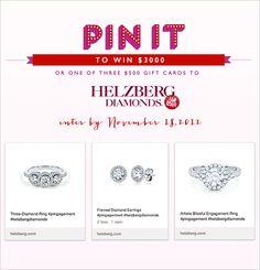 Helzberg Diamonds' PINgagement Giveaway #helzbergdiamonds #pingagement