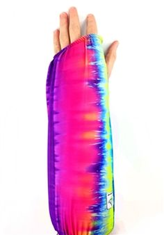 Fun tie dye arm cast cover by My Recovers. #castcovers #madeinamerica