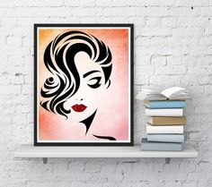 Beauty wall decor Woman face Lashes print by InstantDownloadArt1