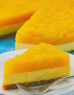 Recipe for Jamaican Mango Cheesecake - Bring a bit of summer to the party. This Jamaican Mango Cheesecake can do just that.