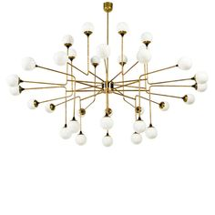 Rare 32 Globe Stilnovo Chandelier | From a unique collection of antique and modern chandeliers and pendants at http://www.1stdibs.com/furniture/lighting/chandeliers-pendant-lights/