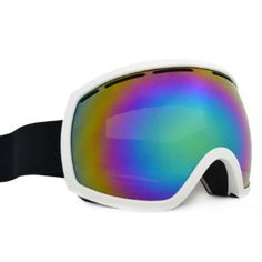 Baleaf mirrored ski goggles, white/black.
