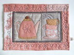 Patchwork sweet mug rug