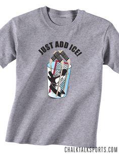 Hockey Tees can be personalized. A great hockey gift idea! All hockey t-shirts can be personalized at chalktalksports.com