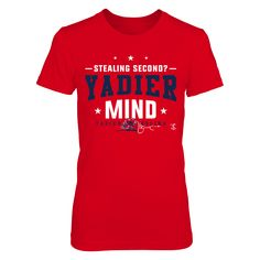 Yadier Molina - Yadier Mind T-Shirt  Yadier Molina Official Apparel - this licensed gear is the perfect clothing for fans. Makes a fun gift!  AVAILABLE PRODUCTS District Women's Premium T-Shirt - $29.95   District Women District Men Gildan Long-Sleeve T-Shirt Gildan Fleece Crew Next Level Women Gildan Youth T-Shirt Gildan Unisex Pullover Hoodie View sizing / material info This is a fitted female style. For a true fit order size up. ...