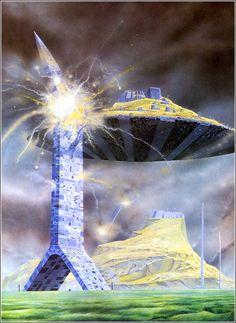 Illustration by Angus McKie Constellations, 70s Sci Fi Art, Bodies, Space Battles, Classic Sci Fi, Star Wars, Science Fiction Art, Fantasy Illustration, Fantasy Landscape