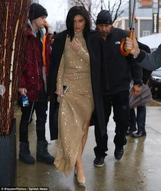 A brand all her own! Kylie Jenner was a walking advertisement as she arrived to the New York City launch of her cosmetics line with SinfulColors on Wednesday