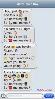 Hilarious Emoji Text About Carly Rae Jepsen