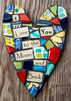 Colorful+Whimsical+Mosaic+Heart+with+To+The+Moon+by+PeaceByPieceCo,+$38.95