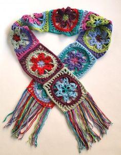 Stash Busting Crochet Scarf Tutorial