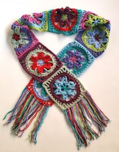 Stash Busting Crochet Scarf By Shelley Husband - Free Crochet Pattern - (spincushions)