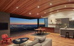 Wooden Light-Filled Skyline House By Terry And Terry
