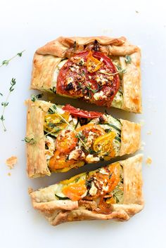 Heirloom Tomato, Zucchini, Caramelized Onion and Feta Galette   foodiecrush.com