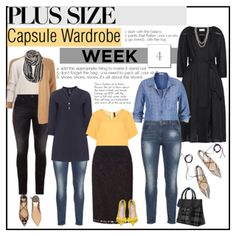 Week 4 plus size outfits from capsule wardrobe 1 by budding-designer