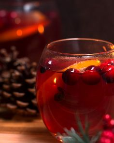Mulled Cranberry Collins