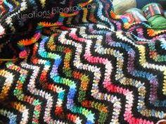 crochet scrap afghan - Google Search