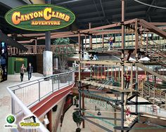 'World's largest' ropes challenge course to soar above Destiny USA's Canyon floor. Learn more about what Syracuse has to offer at http://newyorkbyrail.com/ #Syracuse #DestinyUSA
