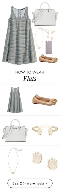 """"" by apemb on Polyvore featuring H&M, Kendra Scott, Michael Kors and Tory Burch"