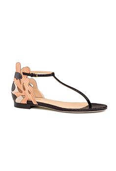 """decorative flat sandal - Sergio Rossi's """"Colorful Beauty"""" Spring/Summer 2015 Collection"""
