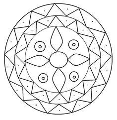 Printable Design Patterns | Rangoli design coloring printable Page ...