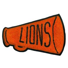 #sportpatch #patch #varsity #cheerleading #lions #americana #highschool #usa #megaphone #letterman #design #typography #graphic by sportpatch