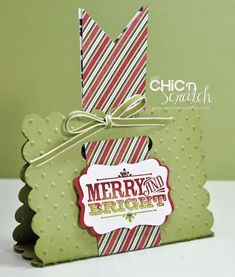 12 Days of Christmas #3 Merry & Bright Treat Holder   Chic' n Scratch
