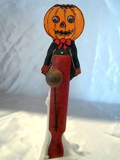 antique rare german halloween mechanical rocking witch c1910 antiques halloween and ebay - German Halloween Decorations