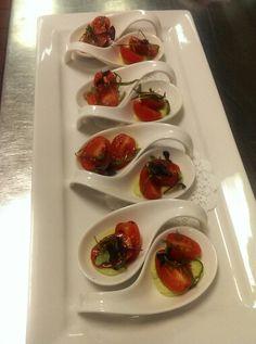 Grape Tomatoes, on Basil Dressing