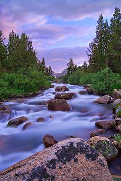 Rock Creek, Little Lakes Valley in the Eastern Sierra Nevada Mountains, CA