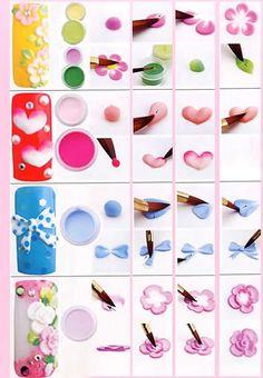 manicure, nails style, flower on nails,маникюр с 3д гелем, пошагово дизайн ногтей, стильный маникюр, масткр класс по работе с гель-пастой