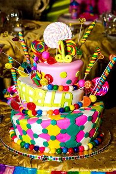 Cake at a Sweets Party #sweets #partycake