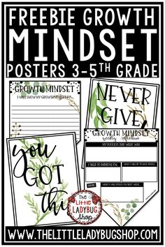 Free Growth Mindset Activities and Posters for your student to set goals! This packet is a freebie and is Perfect for students in 2nd grade, 3rd grade, 4th grade, and home school classrooms. #growthmindsetactivities #growthmindsetposters