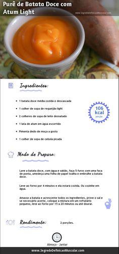 Purê de Batata Doce com Atum ~>  ~> http://www.segredodefinicaomuscular.com/receita-rapida-de-pure-de-batata-doce-com-atum  #Saudavel