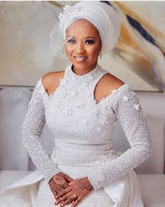 Hauwa Indimi and Mohammed Yar'adua Magnificent Wedding ~ My Afro Caribbean Wedding Nigeria African Lace Styles, African Lace Dresses, Latest African Fashion Dresses, African Print Fashion, Nigerian Wedding Dress, African Wedding Attire, African Attire, Wedding Dresses, Wedding Hijab